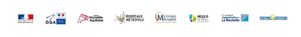 Logos des partenaires Bâtiment au territoire intelligent